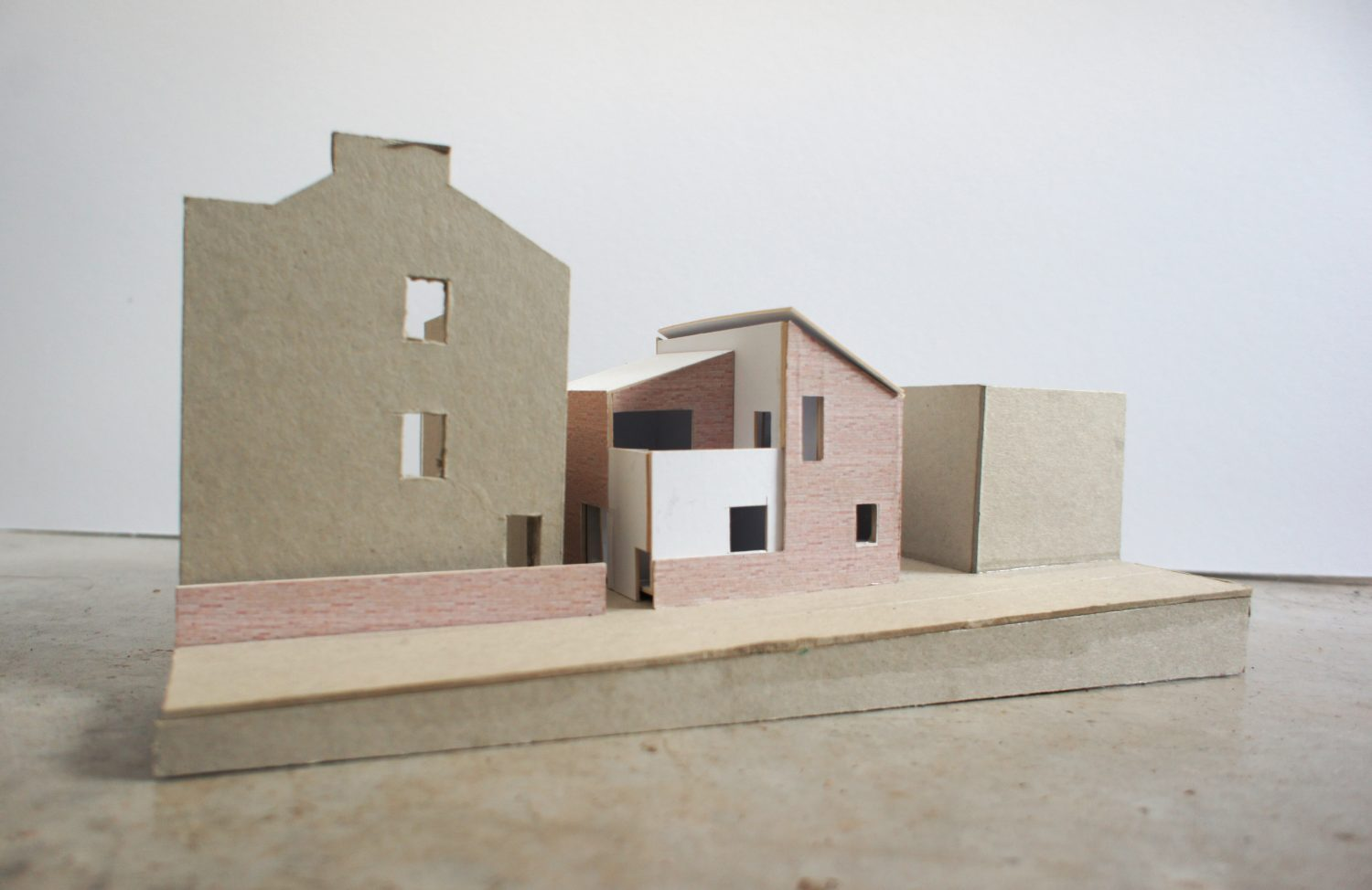 Contemporary new build architects model Magdalen Road Exeter