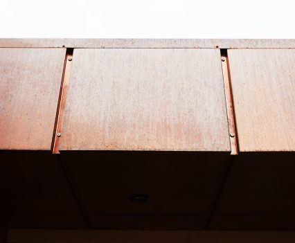 Copper soffit - Exeter City Architects