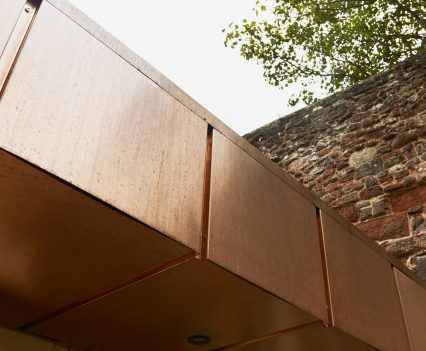 Copper detail - Exeter City Architects