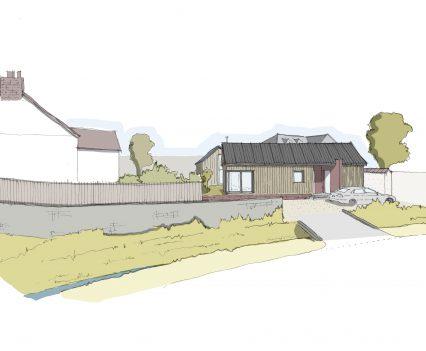 Street Perspective - East Devon Architect