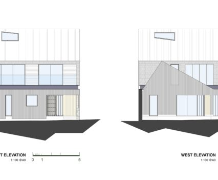 East and West Elevations Devon Architects
